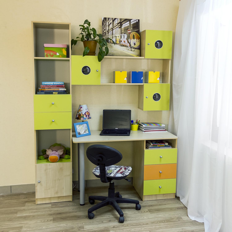 Стол письменный для двоих детей школьников вдоль стены: Столы компьютерные в детскую комнату 2 рабочих места